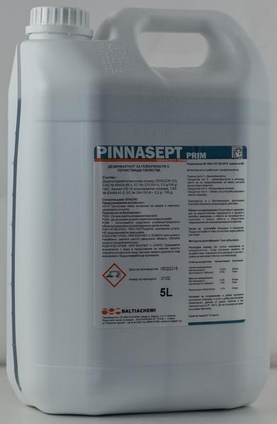 Дезинфектант за повърхности концентрат Pinnasept Prim 5l
